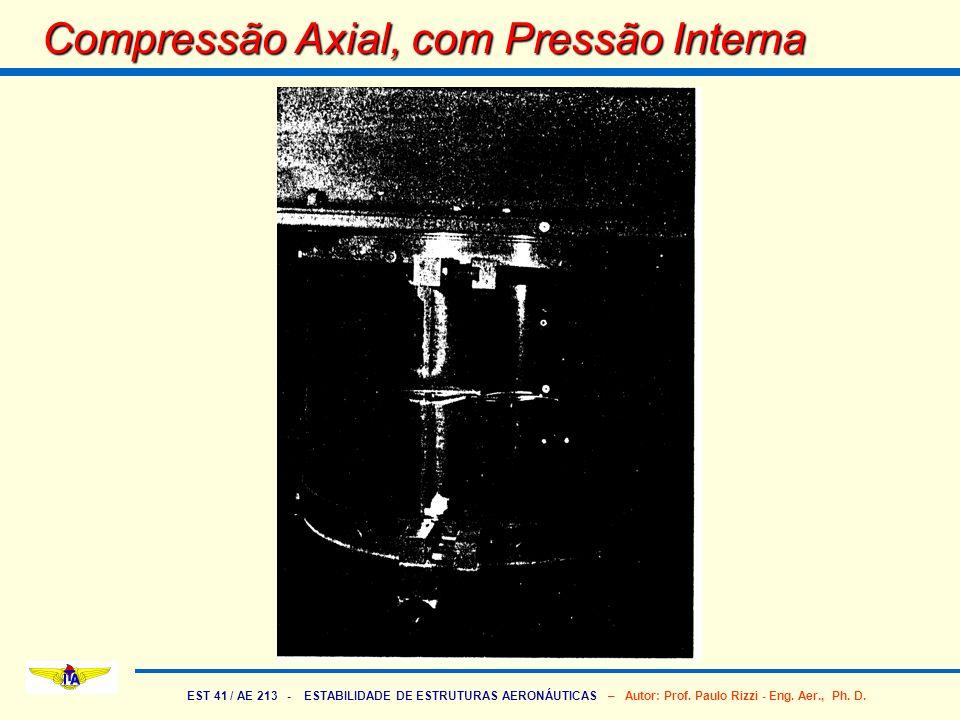 EST 41 / AE 213 - ESTABILIDADE DE ESTRUTURAS AERONÁUTICAS – Autor: Prof. Paulo Rizzi - Eng. Aer., Ph. D. Compressão Axial, com Pressão Interna