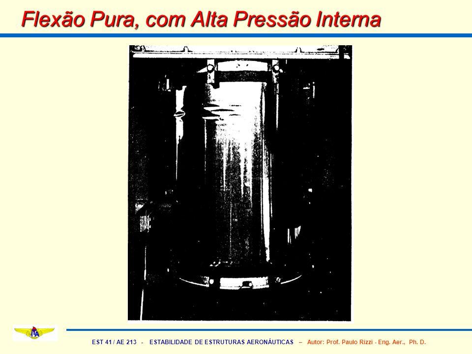 EST 41 / AE 213 - ESTABILIDADE DE ESTRUTURAS AERONÁUTICAS – Autor: Prof. Paulo Rizzi - Eng. Aer., Ph. D. Flexão Pura, com Alta Pressão Interna
