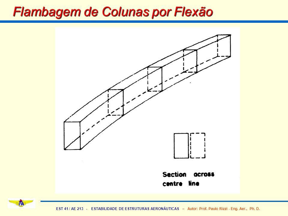 EST 41 / AE 213 - ESTABILIDADE DE ESTRUTURAS AERONÁUTICAS – Autor: Prof. Paulo Rizzi - Eng. Aer., Ph. D. Flambagem de Colunas por Flexão
