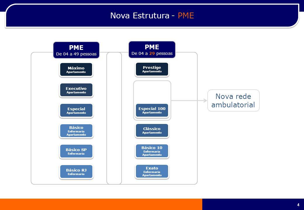 4 4 PME De 04 a 29 pessoas Nova Estrutura - PME PME De 04 a 49 pessoas Máximo Apartamento Máximo Apartamento Executivo Apartamento Executivo Apartamen