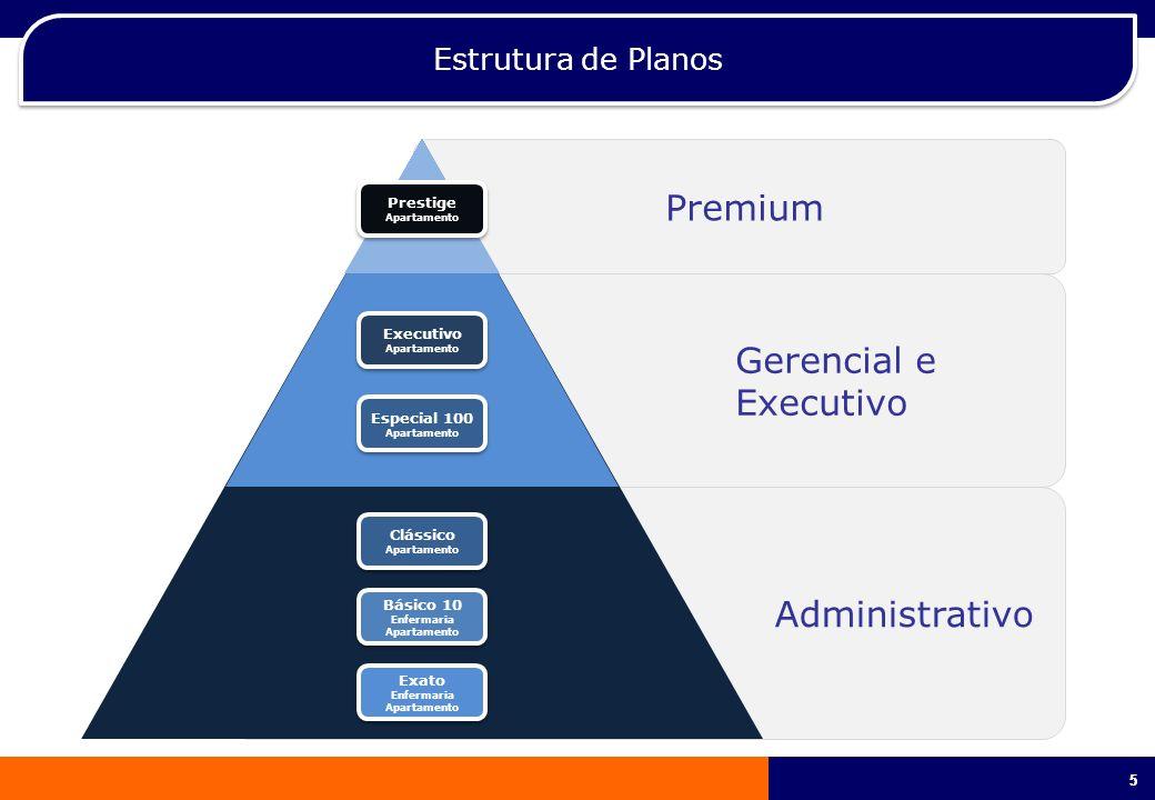 55 Premium Gerencial e Executivo Administrativo Estrutura de Planos Prestige Apartamento Prestige Apartamento Executivo Apartamento Executivo Apartame