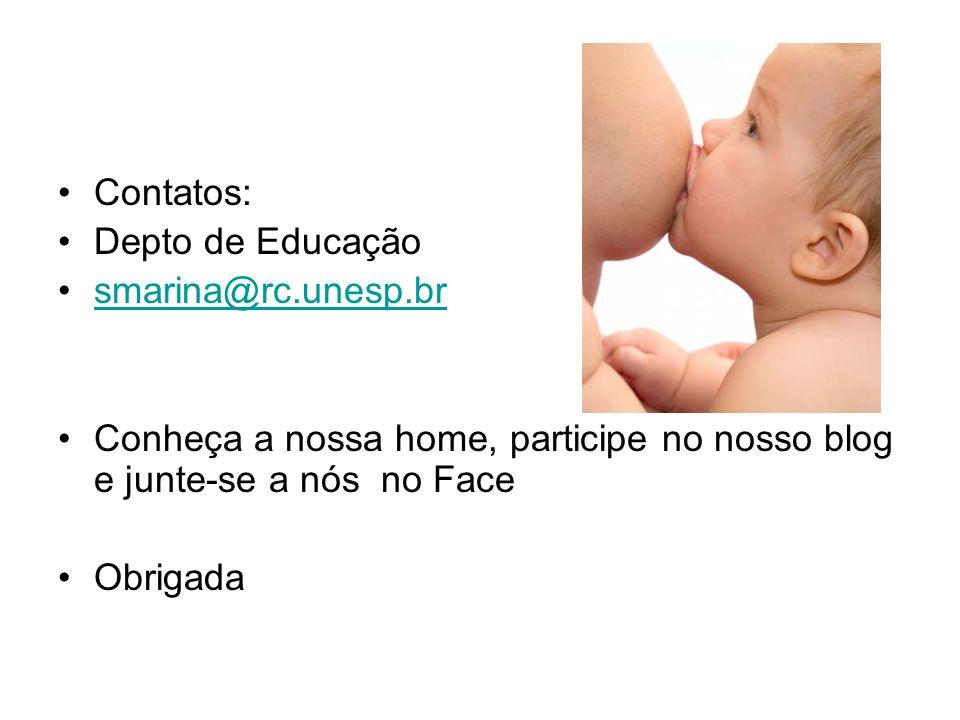 Contatos: Depto de Educação smarina@rc.unesp.br Conheça a nossa home, participe no nosso blog e junte-se a nós no Face Obrigada
