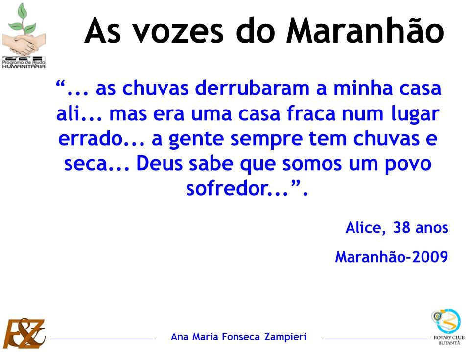 Ana Maria Fonseca Zampieri... as chuvas derrubaram a minha casa ali... mas era uma casa fraca num lugar errado... a gente sempre tem chuvas e seca...