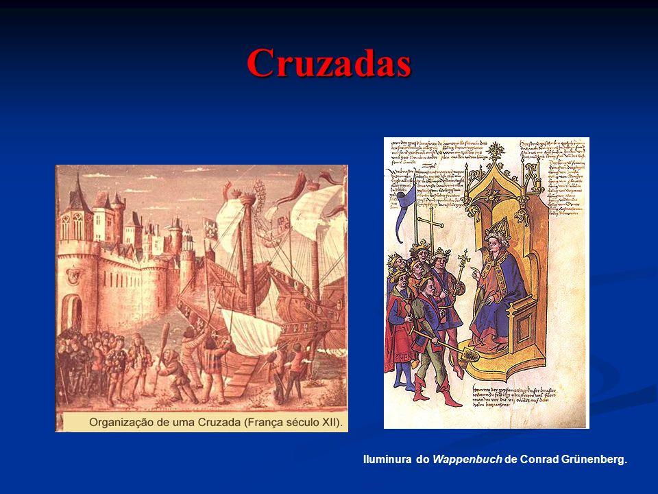 Cruzadas Iluminura do Wappenbuch de Conrad Grünenberg.