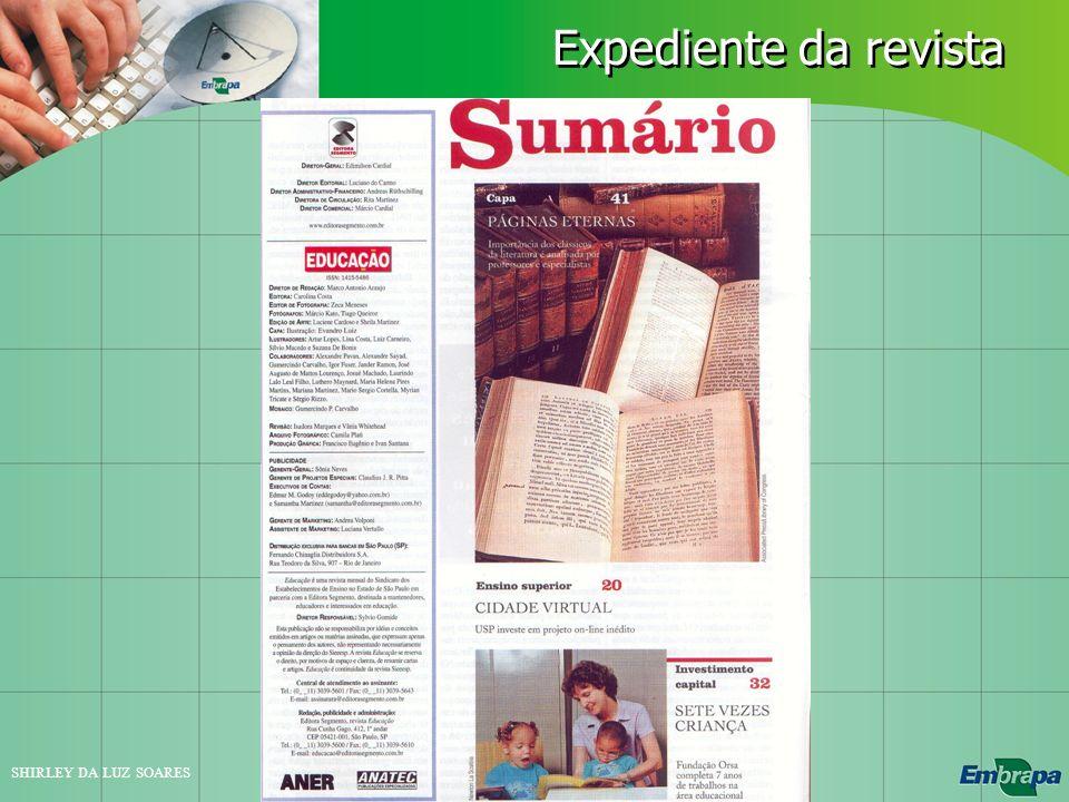 SHIRLEY DA LUZ SOARES Expediente da revista
