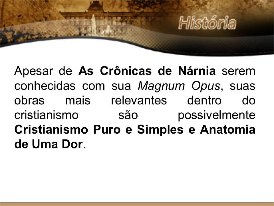 Apesar de As Crônicas de Nárnia serem conhecidas com sua Magnum Opus, suas obras mais relevantes dentro do cristianismo são possivelmente Cristianismo