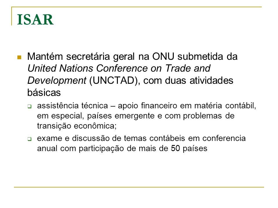 ISAR Mantém secretária geral na ONU submetida da United Nations Conference on Trade and Development (UNCTAD), com duas atividades básicas assistência