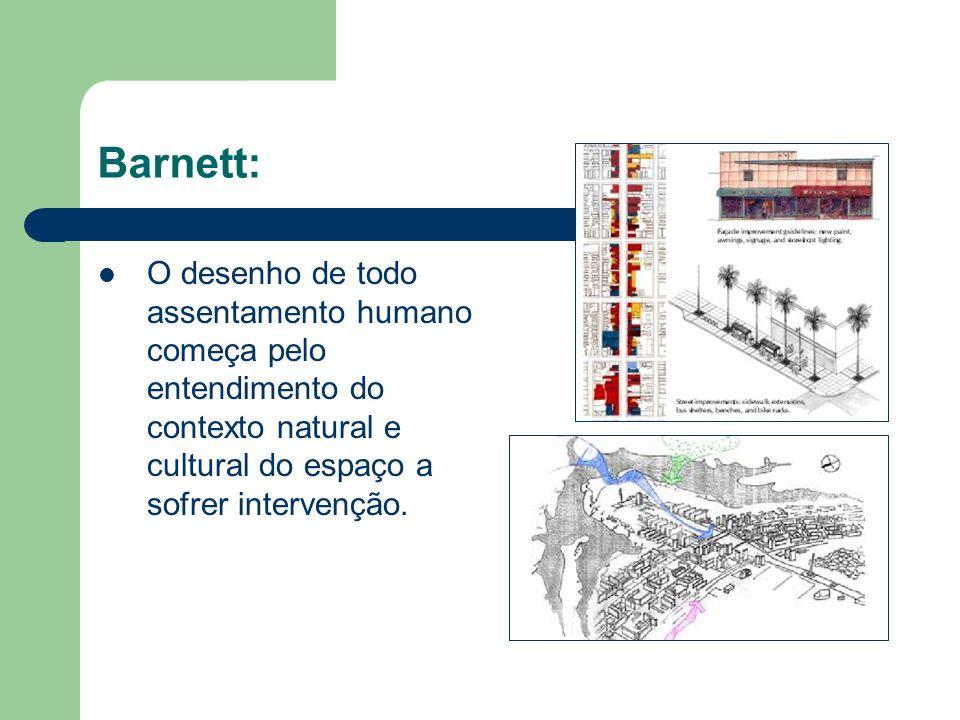 Barnett: O desenho de todo assentamento humano começa pelo entendimento do contexto natural e cultural do espaço a sofrer intervenção.