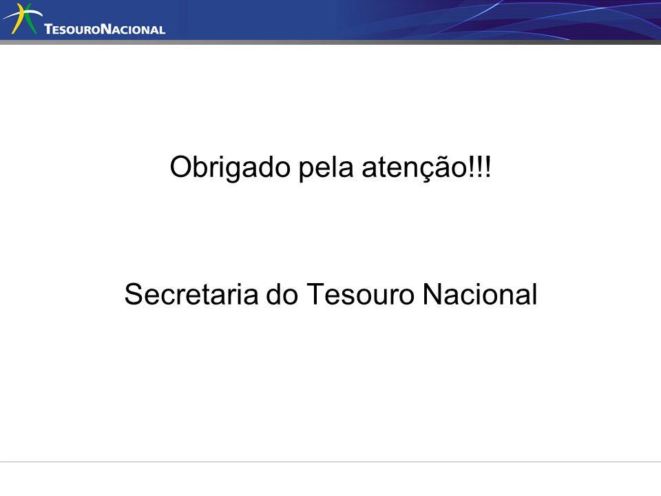 Obrigado pela atenção!!! Secretaria do Tesouro Nacional