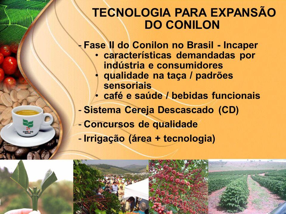 TECNOLOGIA PARA EXPANSÃO DO CONILON © Copyright P&A -Fase II do Conilon no Brasil - Incaper características demandadas por indústria e consumidores qu