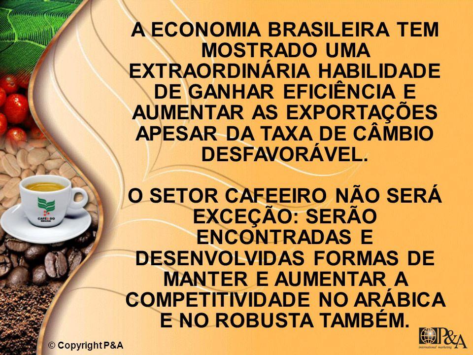 A ECONOMIA BRASILEIRA TEM MOSTRADO UMA EXTRAORDINÁRIA HABILIDADE DE GANHAR EFICIÊNCIA E AUMENTAR AS EXPORTAÇÕES APESAR DA TAXA DE CÂMBIO DESFAVORÁVEL.