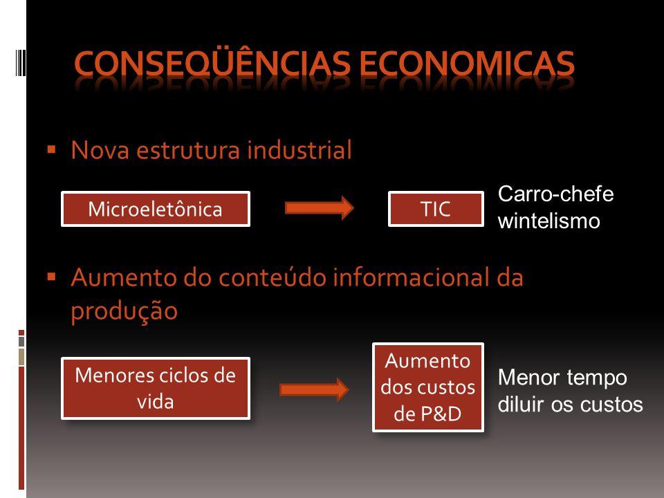 Economia de velocidade Economias Externas Economia de tempo Redução do capital de giro Menores estoques - Em processo e finais Compras, vendas, P&D Transações financeiras Concentração em uma região - RH Qualificado - Infra-estrutura - Capacidade produtiva - RH Qualificado - Infra-estrutura - Capacidade produtiva Aumento da eficiência coletiva Aumento da eficiência coletiva REDES VIRTUAIS CONSEGUEM O MESMO RESULTADO (TICs)