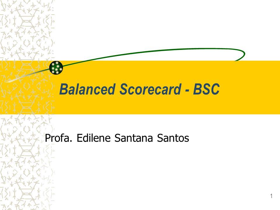 1 Balanced Scorecard - BSC Profa. Edilene Santana Santos