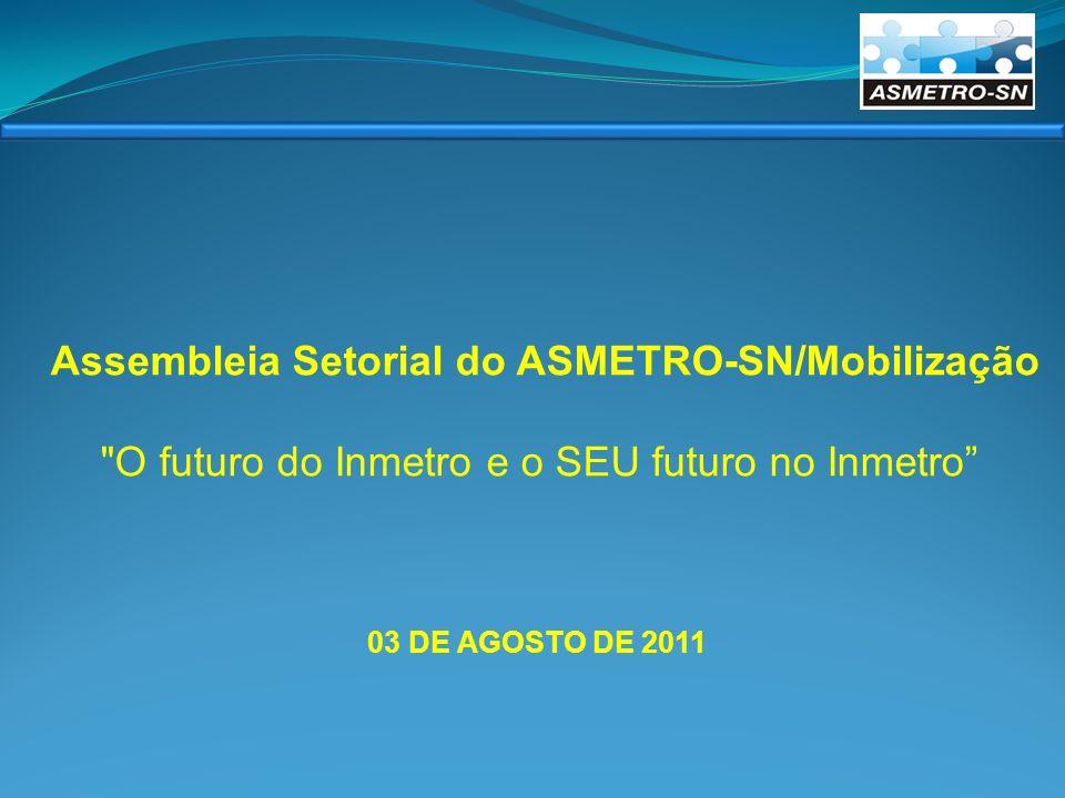 03 DE AGOSTO DE 2011 Assembleia Setorial do ASMETRO-SN/Mobilização