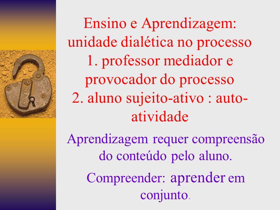 Ensino e Aprendizagem: unidade dialética no processo 1.