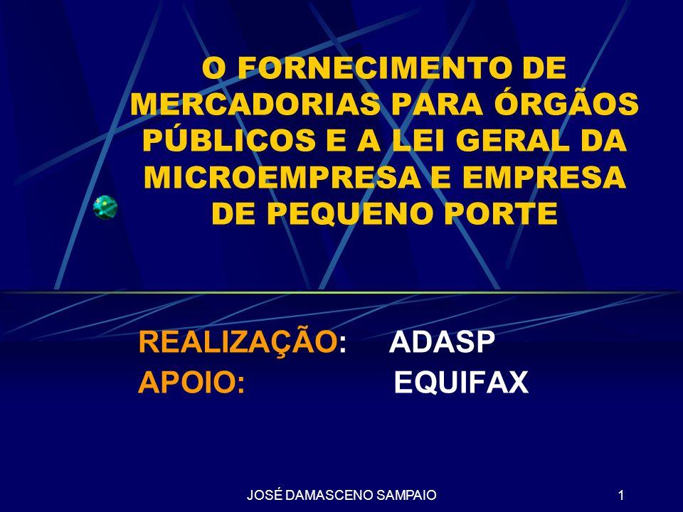 JOSÉ DAMASCENO SAMPAIO2 ME E EPP NO ORDENAMENTO JURÍDICO BRASILEIRO TRATAMENTO FOVORECIDO PARA A PEQUENA EMPRESA (CF – ART.
