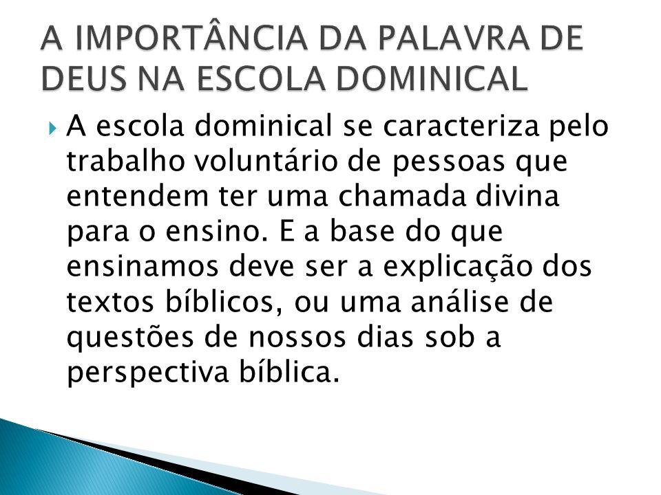 A Bíblia é a Palavra de Deus.