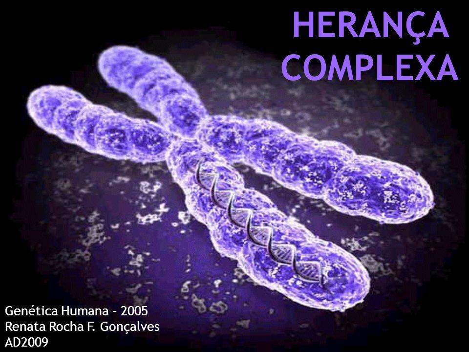 HERANÇA COMPLEXA Genética Humana - 2005 Renata Rocha F. Gonçalves AD2009