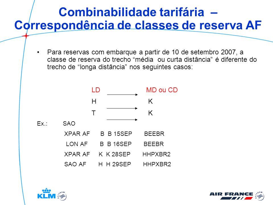 Bilhete eletrônico – e-tkt Não permite mudança de nome após a emissão Possibilidade de emitir etkt para grupos (AF) Revalidação apenas para AF.