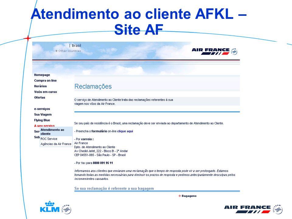 Atendimento ao cliente AFKL – Site AF