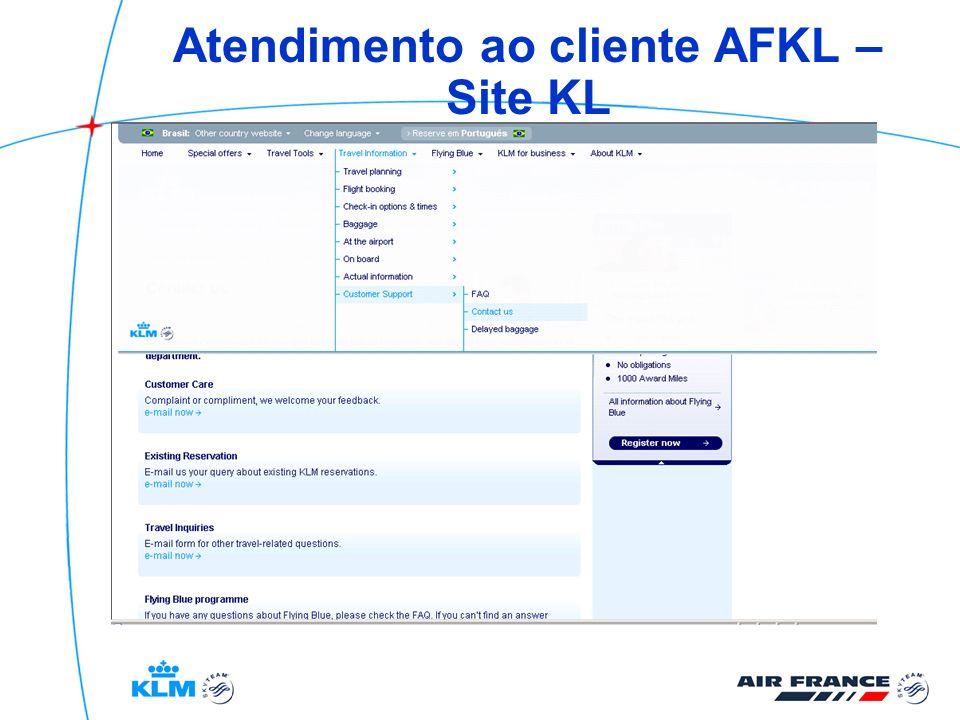 Atendimento ao cliente AFKL – Site KL