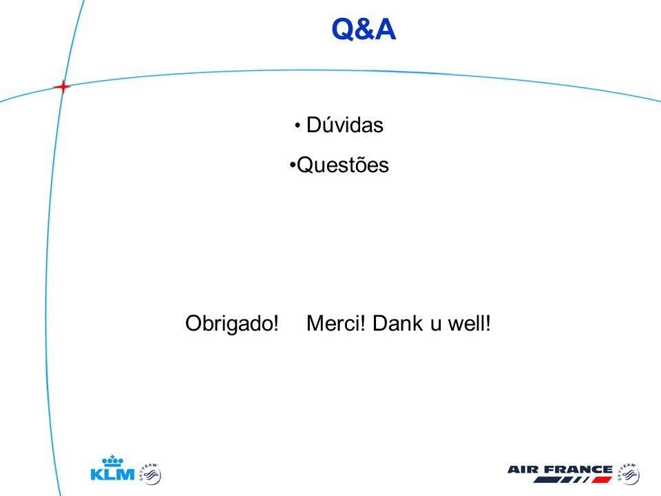 Q&A Dúvidas Questões Obrigado! Merci! Dank u well!