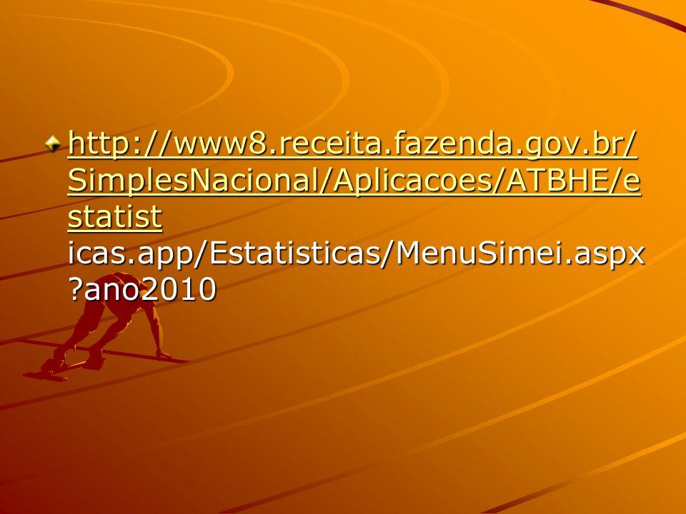 http://www8.receita.fazenda.gov.br/ SimplesNacional/Aplicacoes/ATBHE/e statist http://www8.receita.fazenda.gov.br/ SimplesNacional/Aplicacoes/ATBHE/e