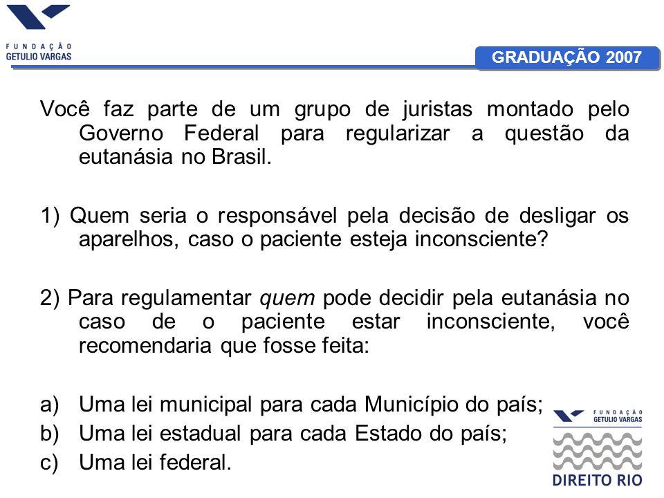 GRADUAÇÃO 2007