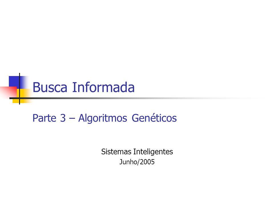 Busca Informada Parte 3 – Algoritmos Genéticos Sistemas Inteligentes Junho/2005