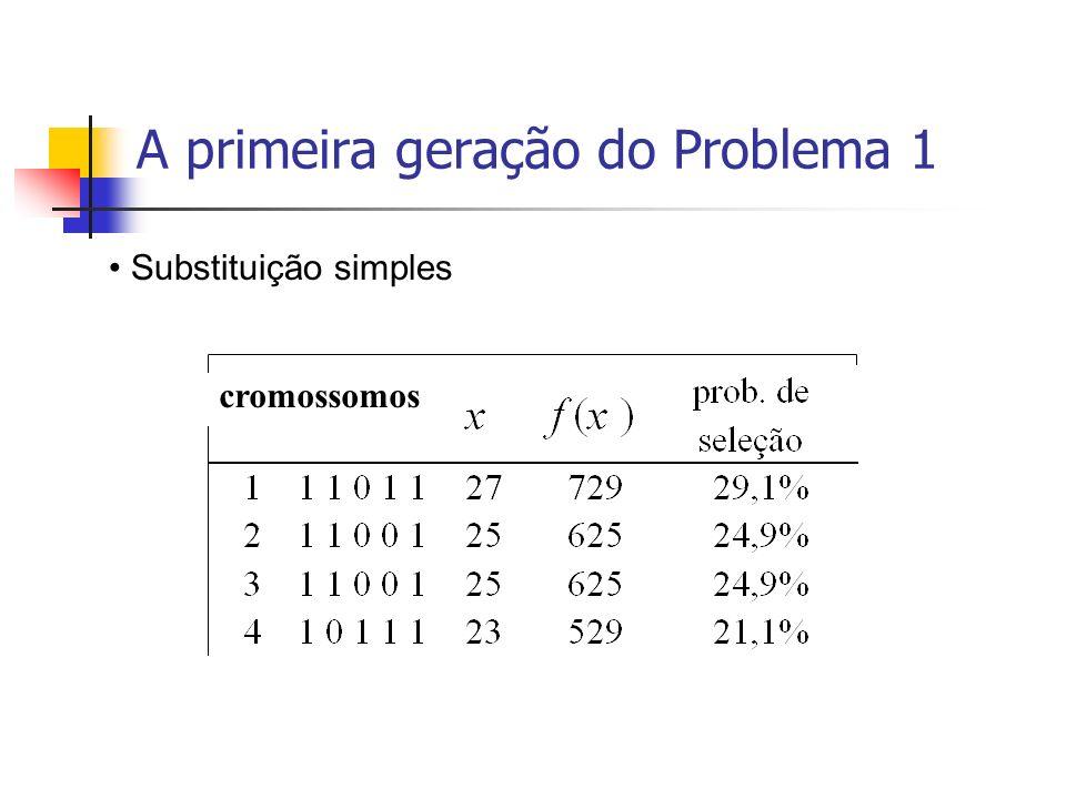 A primeira geração do Problema 1 cromossomos Substituição simples