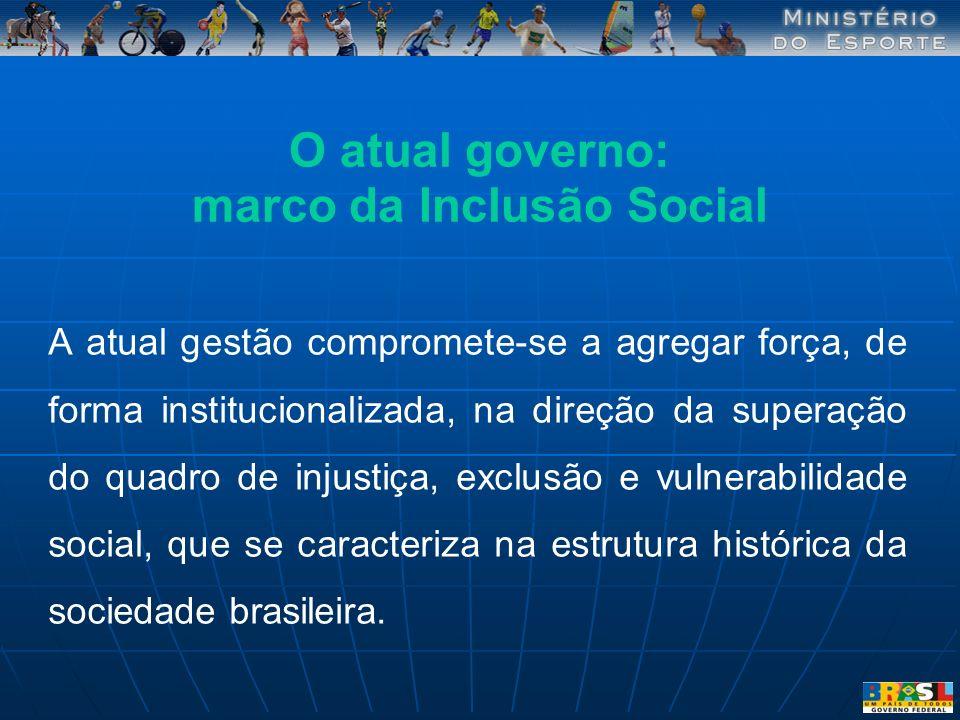 A atual gestão compromete-se a agregar força, de forma institucionalizada, na direção da superação do quadro de injustiça, exclusão e vulnerabilidade