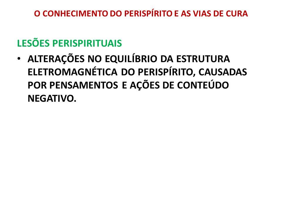 O CONHECIMENTO DO PERISPÍRITO E AS VIAS DE CURA LESÕES PERISPIRITUAIS ALTERAÇÕES NO EQUILÍBRIO DA ESTRUTURA ELETROMAGNÉTICA DO PERISPÍRITO, CAUSADAS P