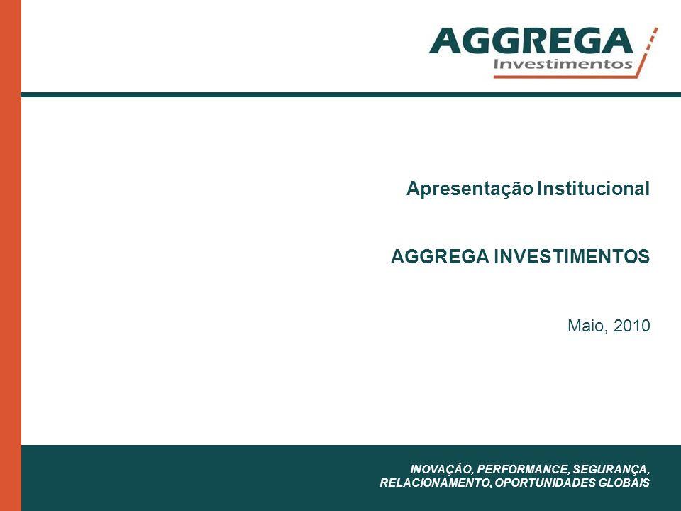 Apresentação Institucional AGGREGA INVESTIMENTOS Maio, 2010 INOVAÇÃO, PERFORMANCE, SEGURANÇA, RELACIONAMENTO, OPORTUNIDADES GLOBAIS