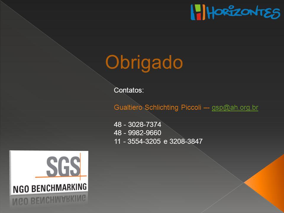 Contatos: Gualtiero Schlichting Piccoli –- gsp@ah.org.brgsp@ah.org.br 48 - 3028-7374 48 - 9982-9660 11 - 3554-3205 e 3208-3847 Obrigado