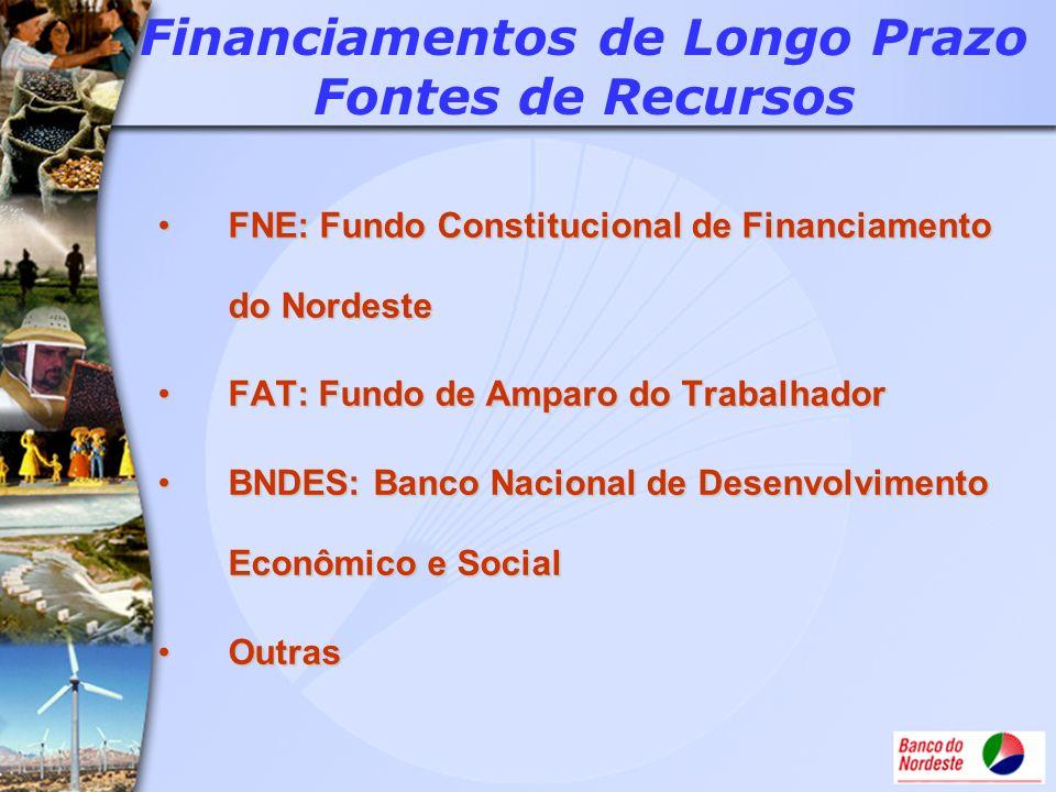 FNE: Fundo Constitucional de Financiamento do NordesteFNE: Fundo Constitucional de Financiamento do Nordeste FAT: Fundo de Amparo do TrabalhadorFAT: F