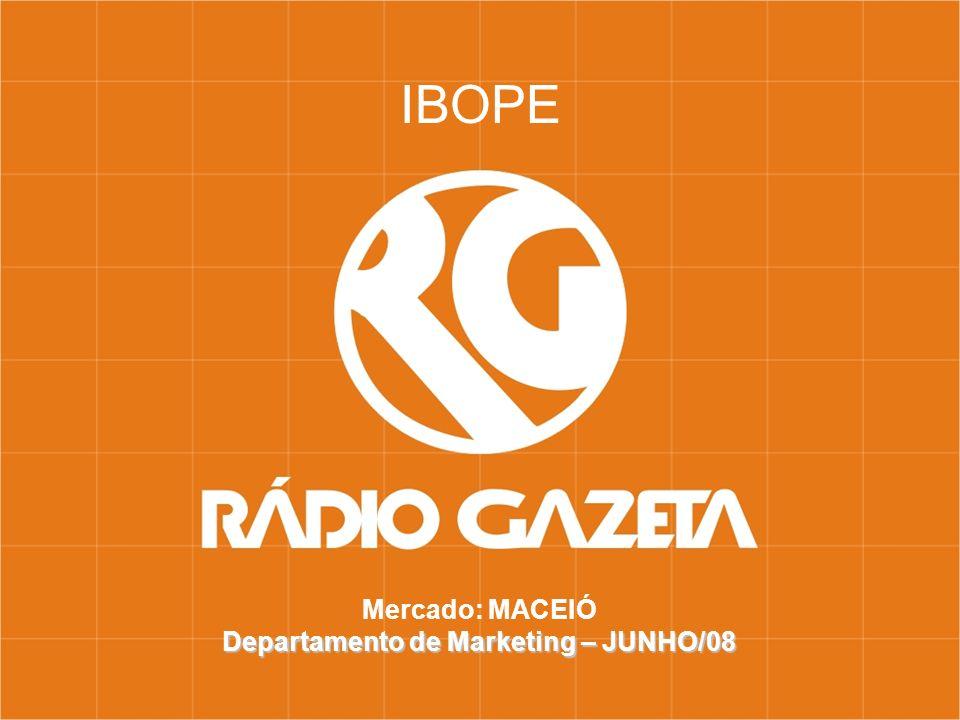 Mercado: MACEIÓ Departamento de Marketing – JUNHO/08 IBOPE