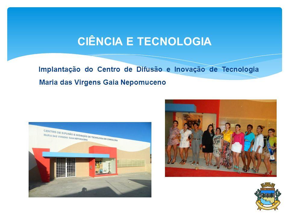 CIÊNCIA E TECNOLOGIA Implantação do Centro de Difusão e Inovação de Tecnologia Maria das Virgens Gaia Nepomuceno
