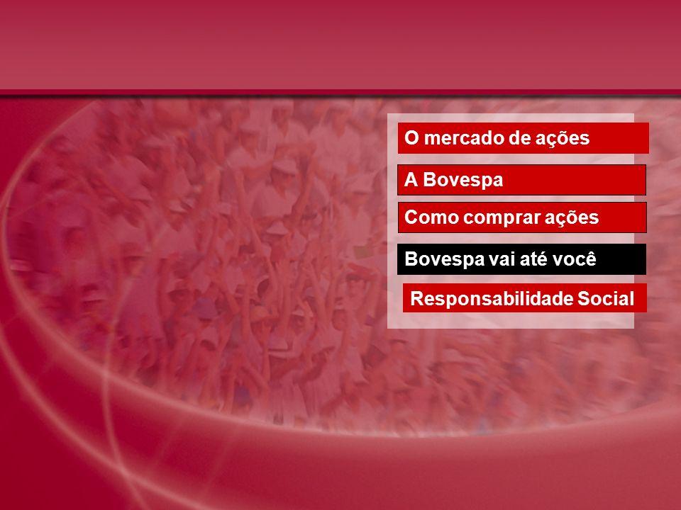 O mercado de ações A Bovespa Como comprar ações Bovespa vai até você Responsabilidade Social