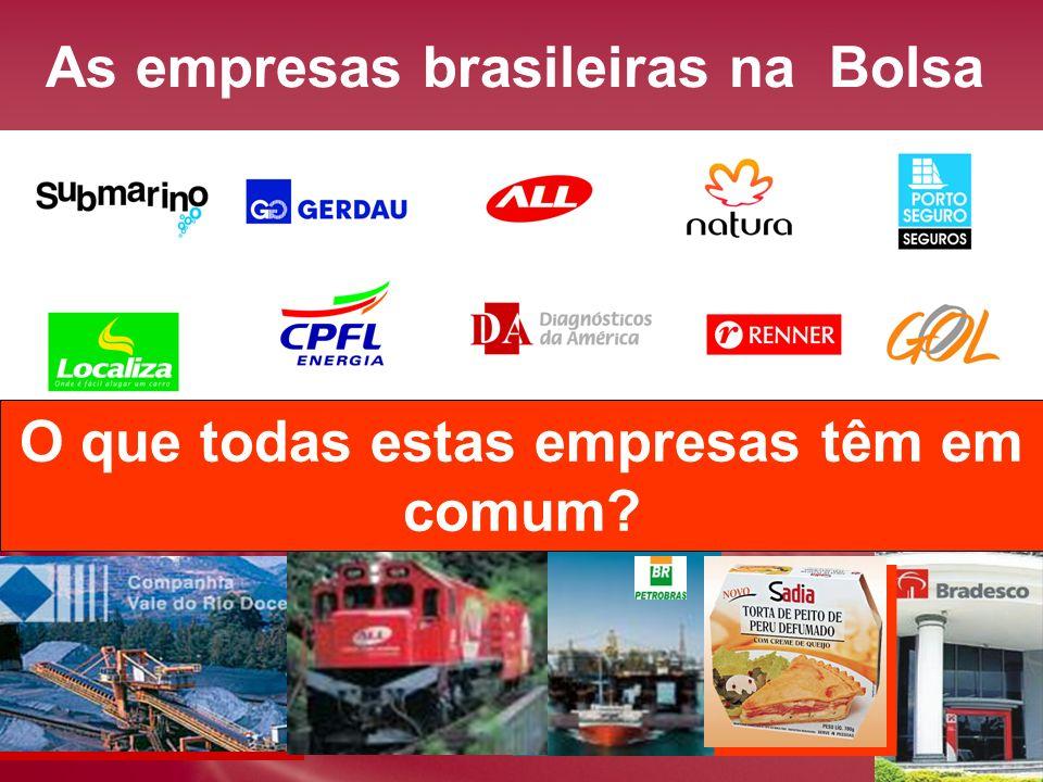 As empresas brasileiras na Bolsa Você pode ser sócio delas