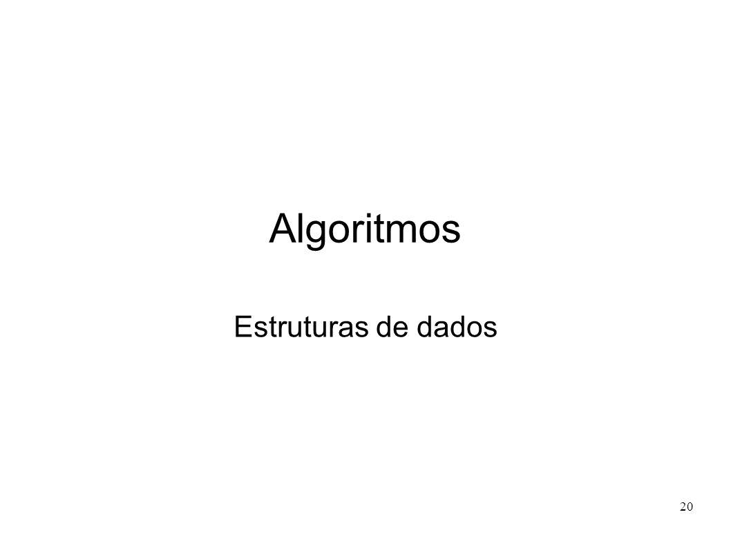 20 Algoritmos Estruturas de dados