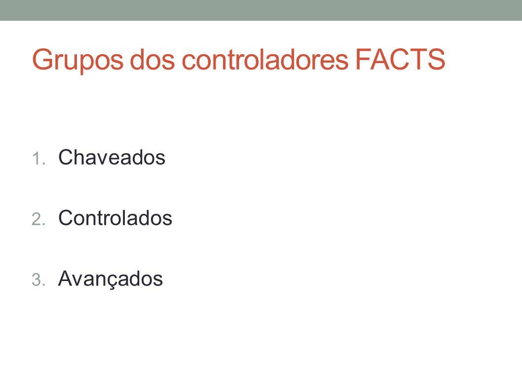 Grupos dos controladores FACTS 1. Chaveados 2. Controlados 3. Avançados