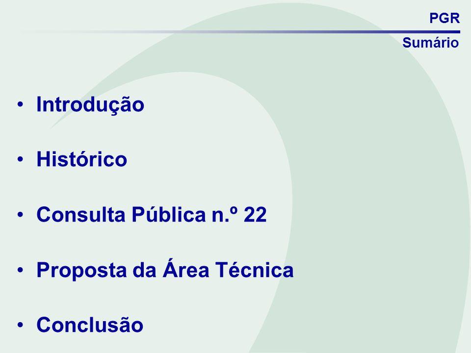PGR Proposta da Área Técnica VII.3.