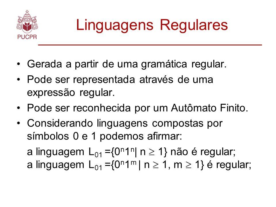 Linguagens Regulares Gerada a partir de uma gramática regular.