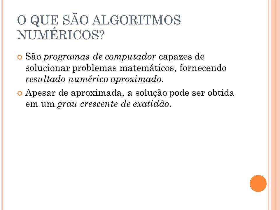 L IVRO T EXTO Frederico Ferreira Campos Filho.Algoritmos Numéricos, 2 ed., Rio de Janeiro: LTC.