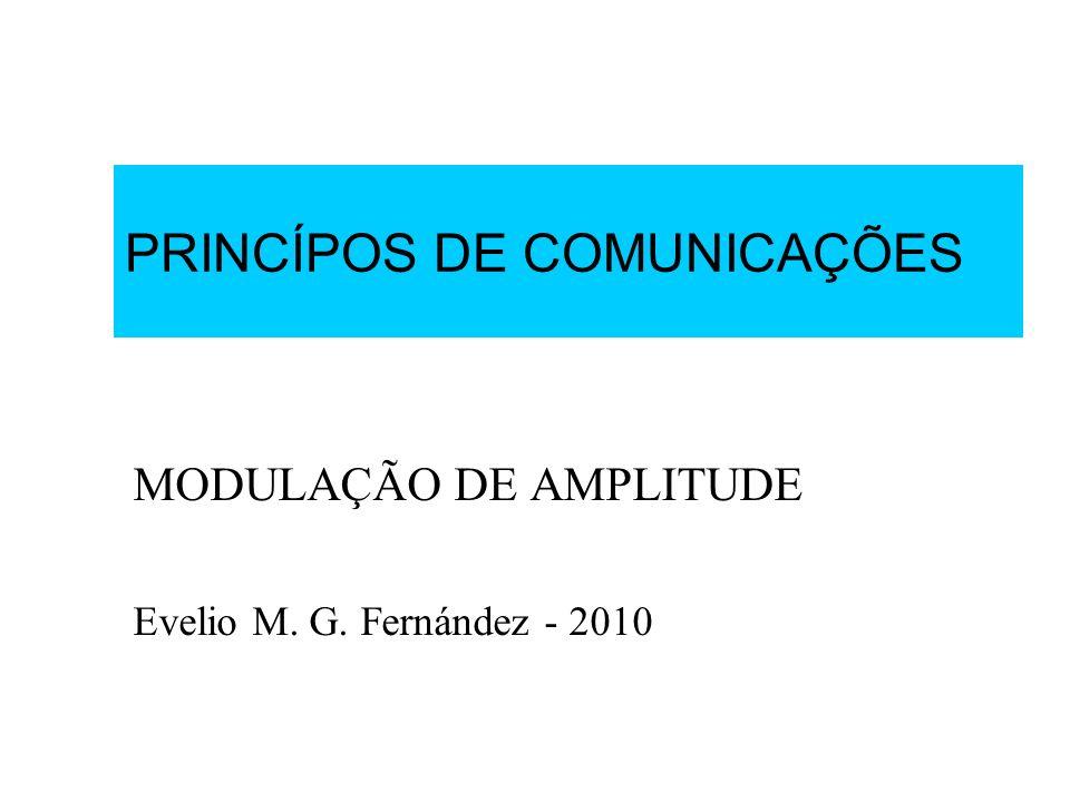 PRINCÍPOS DE COMUNICAÇÕES MODULAÇÃO DE AMPLITUDE Evelio M. G. Fernández - 2010