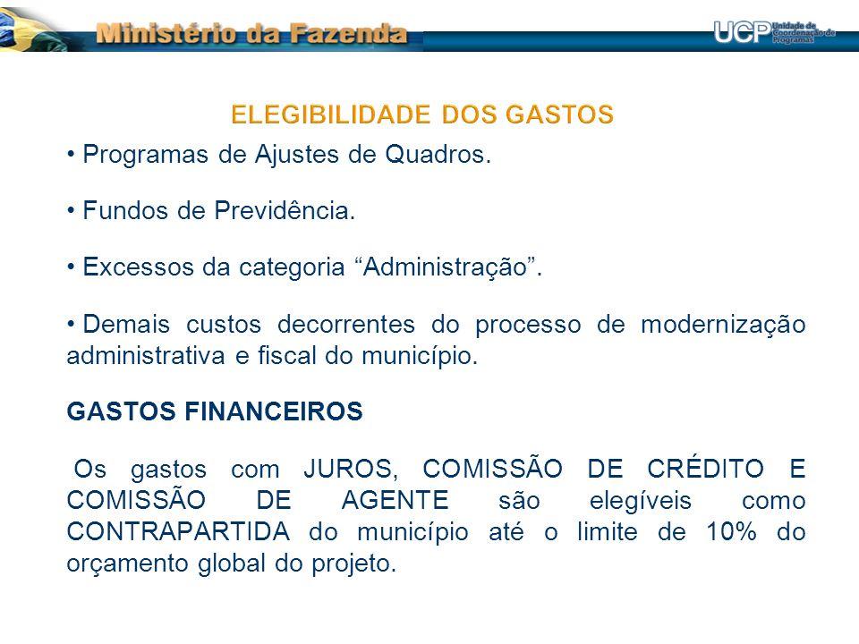 Programas de Ajustes de Quadros.Fundos de Previdência.