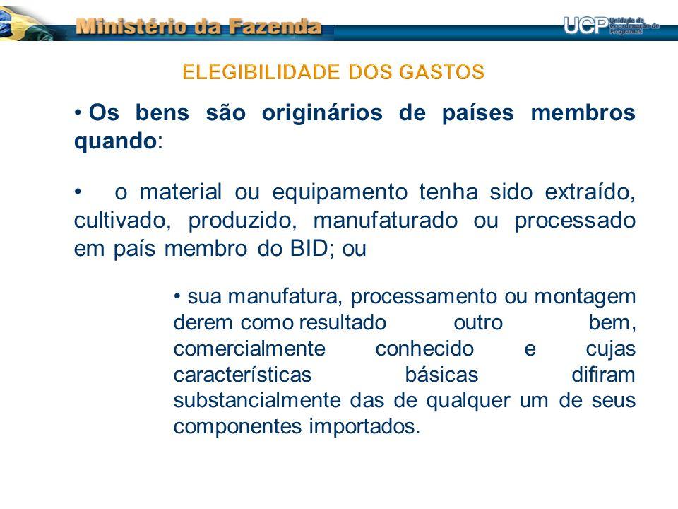 Plano de Ação do Projeto Aprovado: Regra Geral: - As aquisições de bens ou de serviços em quantidade e preço igual ou menor que o orçamento do projeto.