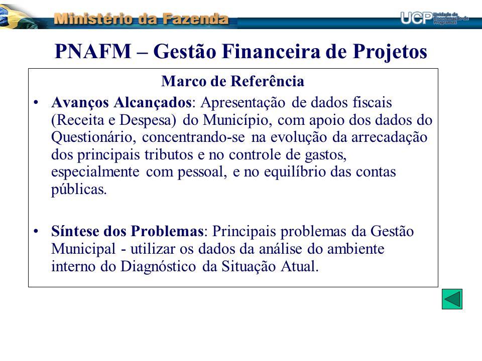 Marco de Referência Avanços Alcançados: Apresentação de dados fiscais (Receita e Despesa) do Município, com apoio dos dados do Questionário, concentra