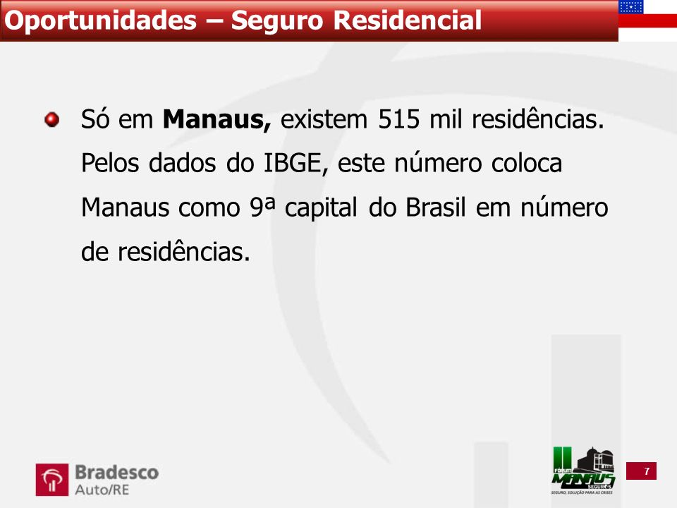 7 Só em Manaus, existem 515 mil residências. Pelos dados do IBGE, este número coloca Manaus como 9ª capital do Brasil em número de residências.