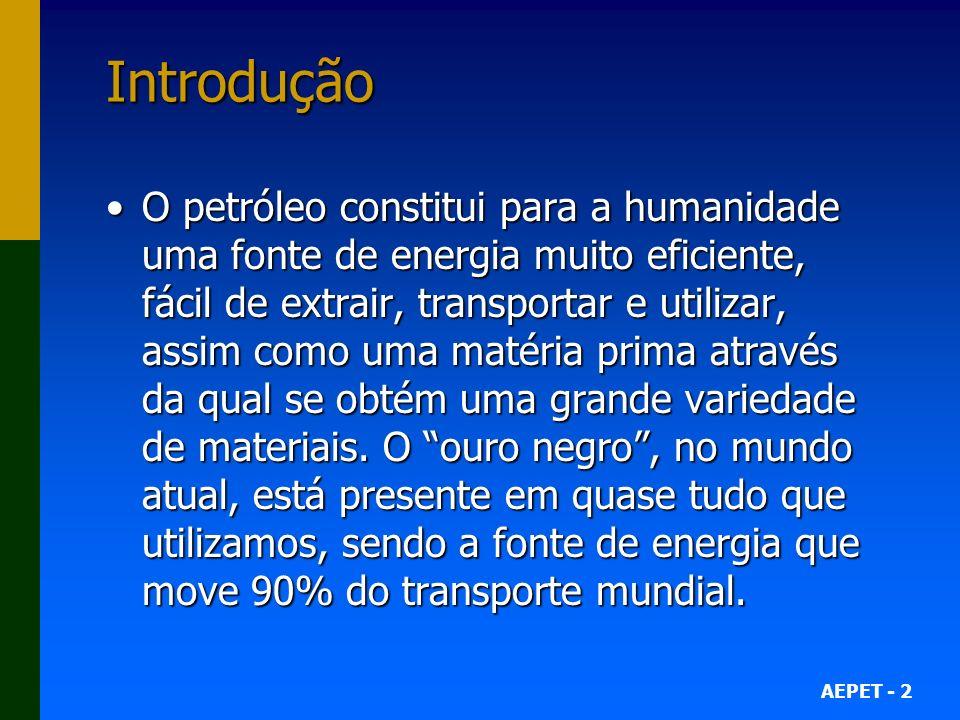 AEPET - 43 Fontes Alternativas O que eu sei mais sobre o Brasil é que o país é um líder no desenvolvimento de fontes alternativas de energia, especialmente o etanol.